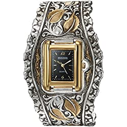 Montana Silversmiths Women's 'Time' Quartz Stainless Steel and Alloy Dress Watch, Color:Two Tone (Model: WCH60412RTG)