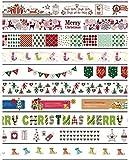Weihnachten Urlaub Washi Tape Set für Geschenkpapier/Arts//Basteln/Scrapbooking/Planer Deko (Mehrfarbig) 10 Rolls Set A