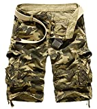 AYG Bermudas Cargo Vintage Pantalon Corto Trabajo Hombre Camuflaje Pantalones Cortos de...