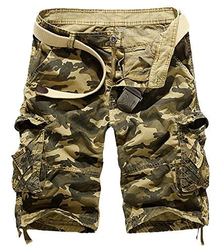 AYG Cargo Shorts Herren Sommer Kurze Hosen Camo Bermuda Short - Camo Kurze
