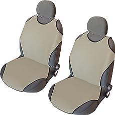 Akhan CSC403-1 Paar Sitzbezug Sitzauflage Sitzschoner Beige
