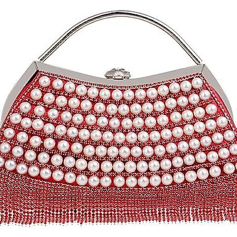 Da Wu Jia Ladies borsetta di alta qualità donna di lusso high-end di banchetti borsa a mano il lusso socialite infiorescenza staminifera abito sacchetto di sera , oro