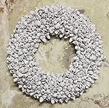 weiß Shabby Blüten Kranz altweiß Türkranz Wandkranz Ø 40 cm Naturkranz Landhaus