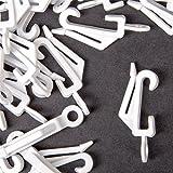 Gardinenschienen aus Kunststoff, Weiß, 40 Stück