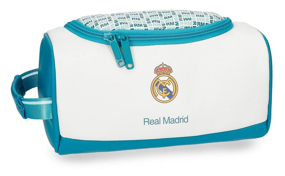 Real Madrid 5374461 RM Leyenda Neceser de Viaje, 26 cm, 6.24 litros, Blanco