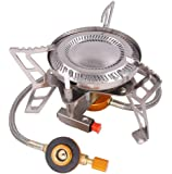 Camping Gas Stove, Portable Outdoor Stove Cooking Tools Compact and Lightweight withGas Bottle Adaptor