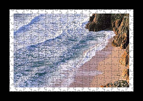 puzzle-style-pre-assembled-wall-print-of-sandy-beach-by-lisa-loft