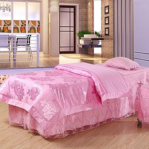 Colcha de belleza Inicio/salón de belleza cama cama cubierta 4pcs/colcha belleza cuerpo cama SPA establece , 190*70