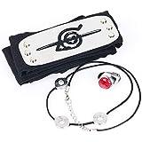 Lunanana, set regalo per cosplay Naruto Shippuden, anime Uchiha Itachi, collana con ciondolo, anello Zhu+fascia, bel regalo p