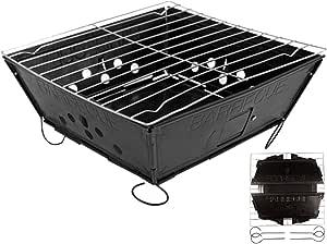 Fresh Grilles pliable pour barbecue et grill Plat Lot Portable de camping Jardin barbecue à charbon