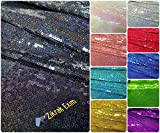 #8: Zikrak Exim Shiny Sequin knit Fabric, Sparkly Glitz Sequin Fabric For handmade of Sequin Backdrop, Tablecloth, Bow, Table Runner, Aisle Runner, Xmas Tree Decorations,Girl's dresses,Mermaid dresses, Party Curtain,Home decorations,Etc