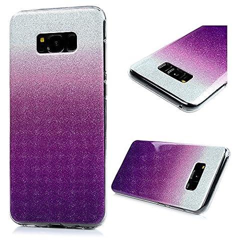 YOKIRIN S8 Coque de Protection Brillant - Phone Case TPU Couverture Complète Dessin Coloré pour Samsung Galaxy S8 - Violet