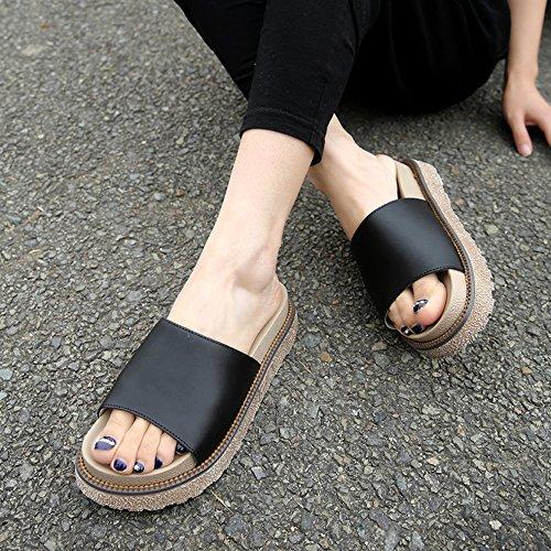 SUNAVY , Chaussures à plateau femme Schwarz-Style3
