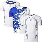 jeansian Men's 3 Pack Sport Quick Dry Fit Short Sleeve T-Shirts Tee Shirt Tshirt Tops Golf Tennis Bowling LSL1059