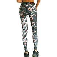 Zarupeng Damen Druckten Sport Yogahose, Lange Stretch Traininghose Fitness Legging Athletische Hosen