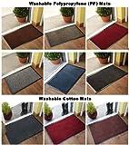 Hardwearing Brown Black Cotton Rubber Dirt Catcher Barrier Mats