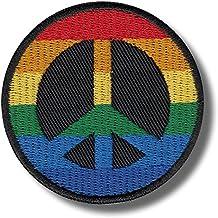 9x6,8cm Bügelbild Aufnäher schwarz//weiß Make Love Not War Peace Frieden