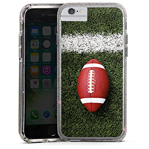 Apple iPhone X Bumper Hülle Bumper Case Glitzer Hülle Football Field Goal Sport Bumper Case Glitzer rose gold
