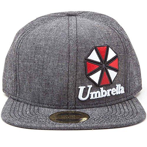 Preisvergleich Produktbild Resident Evil Baseball Cap Umbrella Logo Nue Offiziell PS4 Grau Snapback