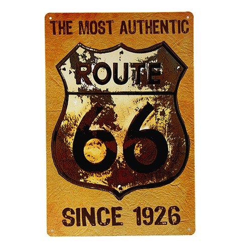 ROUTE 66 ihre KICKS ALUMINIUM METALL NUMMERNSCHILD AUTO/Auto/LKW-SIGN TAG - Garage 174 ERHALTEN (Kick Aluminium)