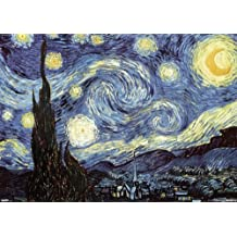 "Póster XXL de Van Gogh ""Starry Night/ La Noche estrellada"" (140cm x 99cm) + 1 póster sorpresa de regalo"