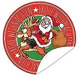 Frohe Weihnachten Santa Aufkleber   Geschenke zu Weihnachten   inkl. Postkarte
