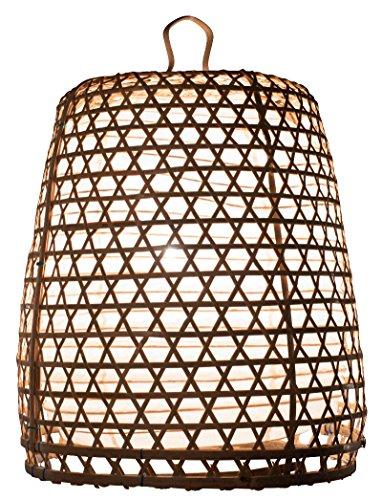 Baskets Decor Home (Lampenschirm Basket Bambus XL, 80x55cm - natur, Bambuslampen aus Bali, handgemachte Lampenschirme aus Bambus, als Hängelampe, Pendelleuchte über Esstisch, im Kinderzimmer oder als Wohnzimmerlampe.)