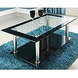 Glastisch »Phoenix« 110 x 60 x 43 cm Couchtisch Beistelltisch