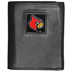 NCAA Louisville Cardinals Genuine Leather Tri-fold Wallet