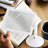 Leselupe 360 ° drehbare Freisprecheinrichtung mit 3X LED Vergrößerungsbildschirm Lesen Sie große Review Bereich für alte Menschen kleine Textlesung deutlich