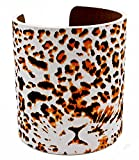 Leopard Tiger Animal Print Ladies Fashion pulsera de puño