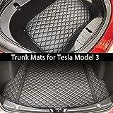 BMZX Tapis de Coffre de Voiture intégral Avant et arrière pour Tesla Modèle 3 (Version Mise à Jour 2 pièces)