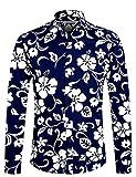 APTRO Fashion Herren Freizeit Baumwolle Mehrfarbig Blumen Langarm Shirt #1015 XL