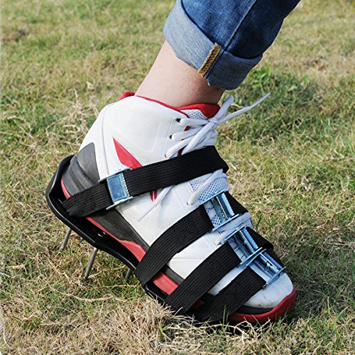 Price comparison product image Lovinn Lawn Aerator Shoes, Gardening Loosening Shoes Plastic Spikes Lawn Farm Planting Aerator Aerating Sandals Shoes