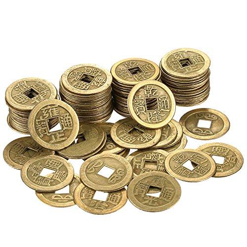 100 Stücke 1 Zoll Chinesische Glücksmünzen Feng Shui L-Ching Münzen Chinesische Glück Münzen...