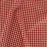 Vichy-Karo Baumwollstoff kariert in Rot / Weiß -