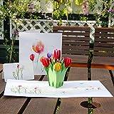 Papier Spiritz Pop Up Carte d'anniversaire de Noël Thanksgiving–3d Tulipe Motif fleur Pop Up Carte avec enveloppe–Handemade Colour-printing Thank You Carte de vacances...