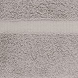 AmazonBasics Pinzon Organic Cotton Blended Washcloths - 12-Pack, Marble Grey
