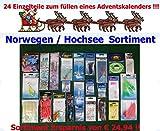 Adventskalender (2) 24 Einzelteile Anglergeschenk Norwegen / Hochsee Meereszubehör