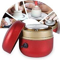 TWSOUL Mini Poterie Roue Machine,0-1500RPM Réglable,Machine à Poterie électrique avec Plateau,Outils De Bricolage en…