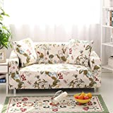 Getmorebeauty Stretch-Sofabezug, elastischer Stoff, floraler Druck mit Vogel-Muster, Frühling, ...