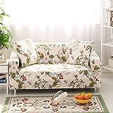 Getmorebeauty Stretch-Sofabezug, elastischer Stoff, floraler Druck mit Vogel-Muster, Frühling, 3-Sitzer