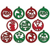 100yellow Wooden Christmas Ornament Cutout for Christmas Decoration Hanger Pack of 10