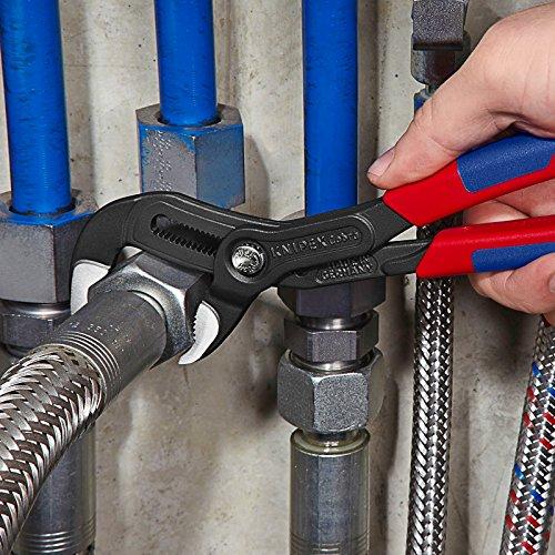 Knipex Cobra – Hochleistungs-Wasserpumpenzange mit Schnelleinstellung und schlanken Mehrkomponenten-Griffhüllen, 250 mm, Rohre bis 50 mm - 3