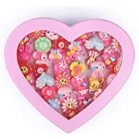 vikas gift gallery Kids Cartoon Fancy Finger Rings for rakshabandhan and Birthday Gift Comes in Pink Heart Shape Box…