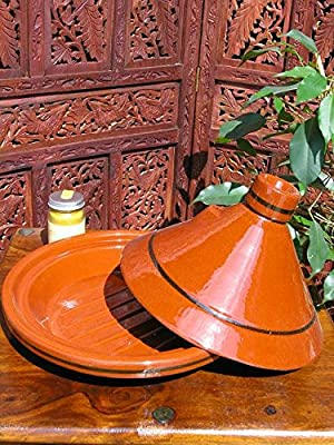 Extra Large traditional Moroccan plain tagine 35cm from Maroque