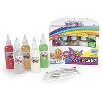 Simba - Aqua Gelz - Set Paillettes et Phosphorescent - Kit Créatif Enfant pour Création de Figurines en 3D - Tubes de…