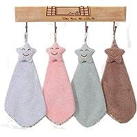 LifeWheel Lot de 4 serviettes absorbantes à suspendre pour cuisine et salle de bain