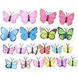 20 Pezzi Fermagli per Capelli a Farfalla,Fermagli per Farfalle Colorate, Fermagli per Capelli per Bambini Fermagli per Glitte
