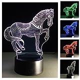 3D Nightlights, 7 Farben ändern Touch Control Nacht Lampe, bestes Geschenk für Freunde Kinder (Pferd)